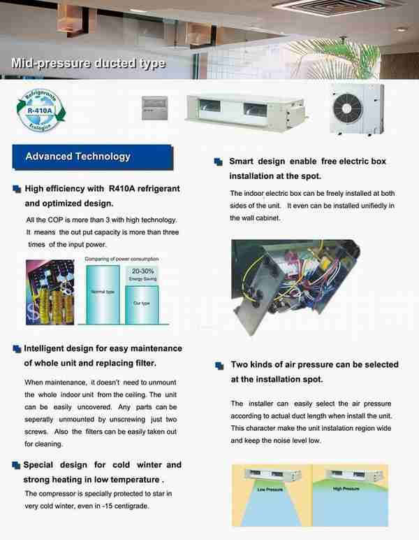 Duct Type Air Conditioner 5KW-17KW