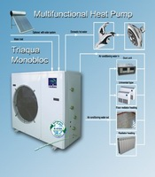 Heating Cooling Hot Water MonoBloc HeatPumps 14KW