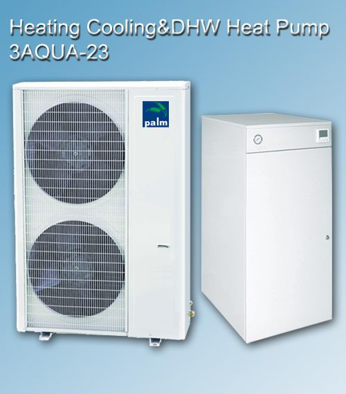 Triaqua heating+cooling+hot water multifunctional heat pump 23KW