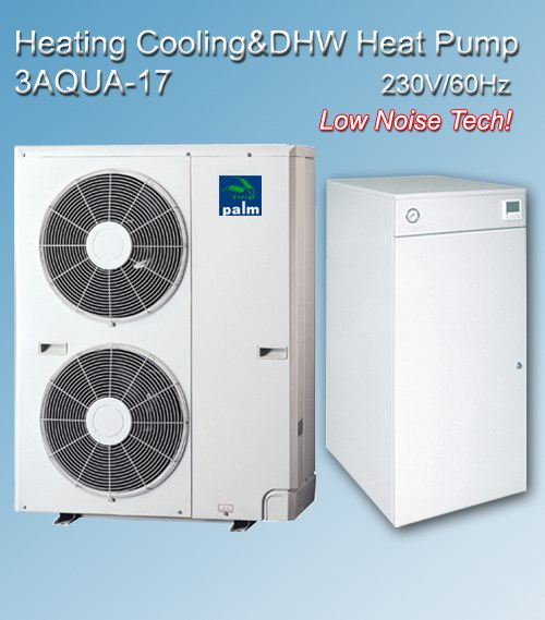 Heating Cooling Hot water HeatPumps LowNoise type 60Hz